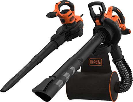 Black+Decker BEBLV300-QS - Aspirador, soplador, triturador de hojas con cable, 3000 W, volumen de aspiración: 15 m3/min, capacidad: 72 L-2, manguera flexible y mochila 72 L: Amazon.es: Bricolaje y herramientas