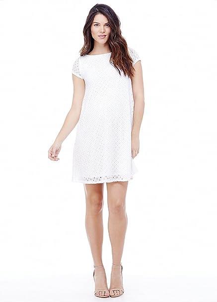 146c865c104eb Ingrid & Isabel Women's Maternity Lace Swing Dress, Bright White, ...