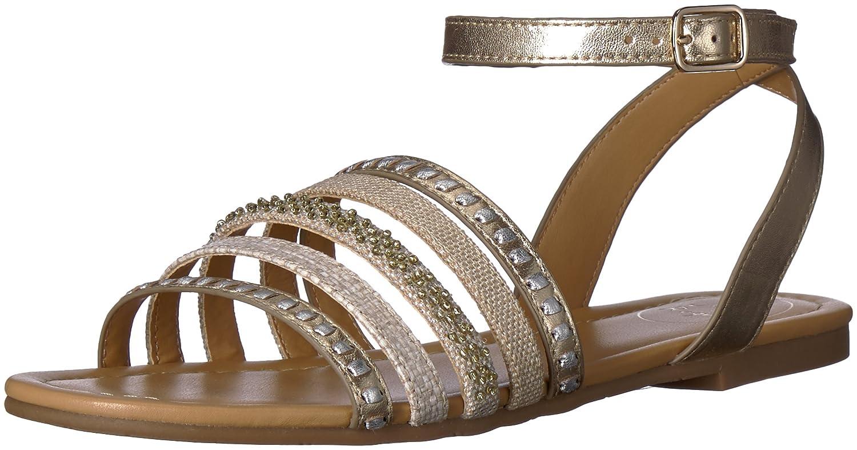 Jack Rogers Women's Hannah Flat Sandal B074XSXTB4 7 B(M) US|Platino/Silver