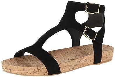 Via Spiga Lamuela Open Toe Suede Slingback Sandal Black Size 8.5