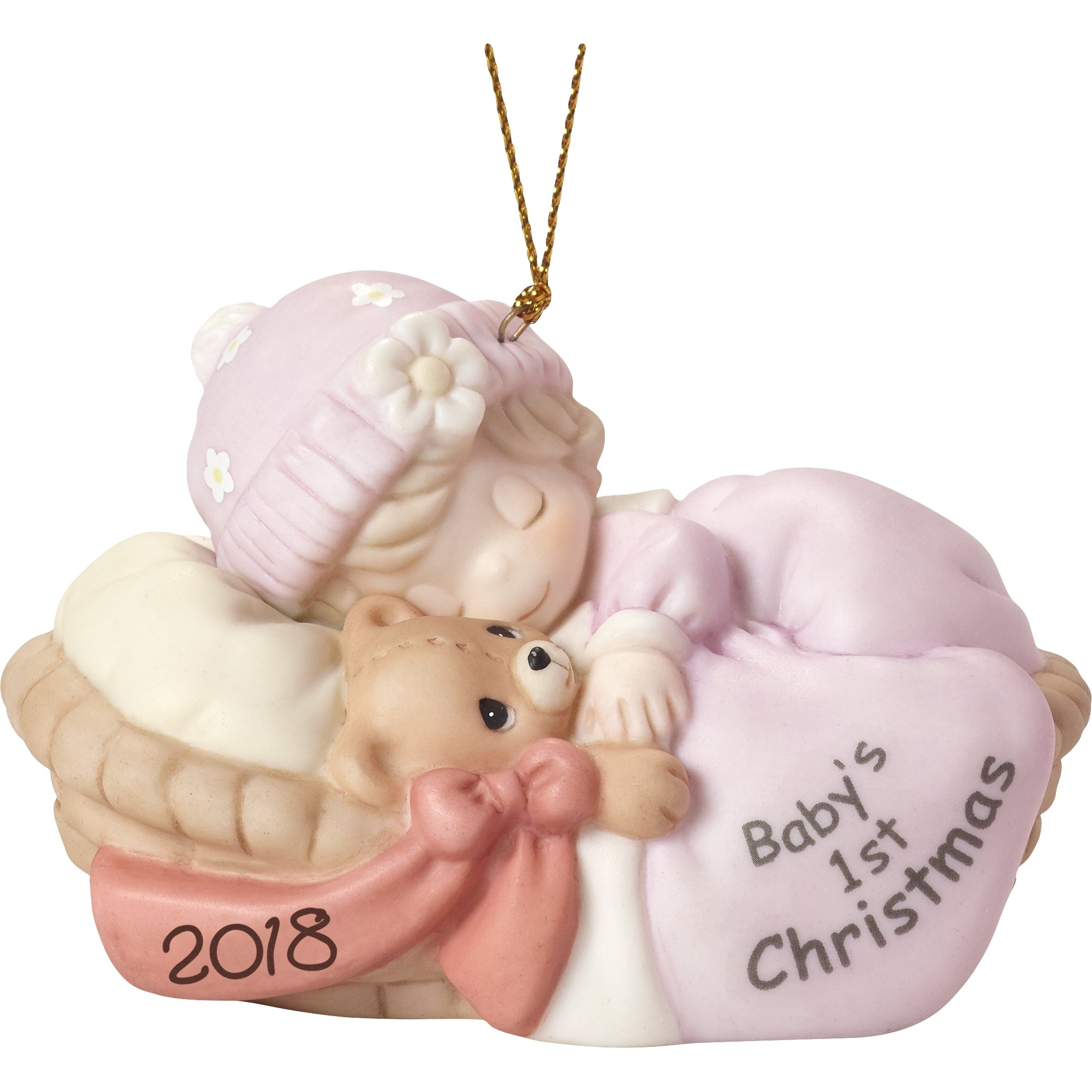 Precious Moments Baby's First Christmas 2018'' Girl Ornament