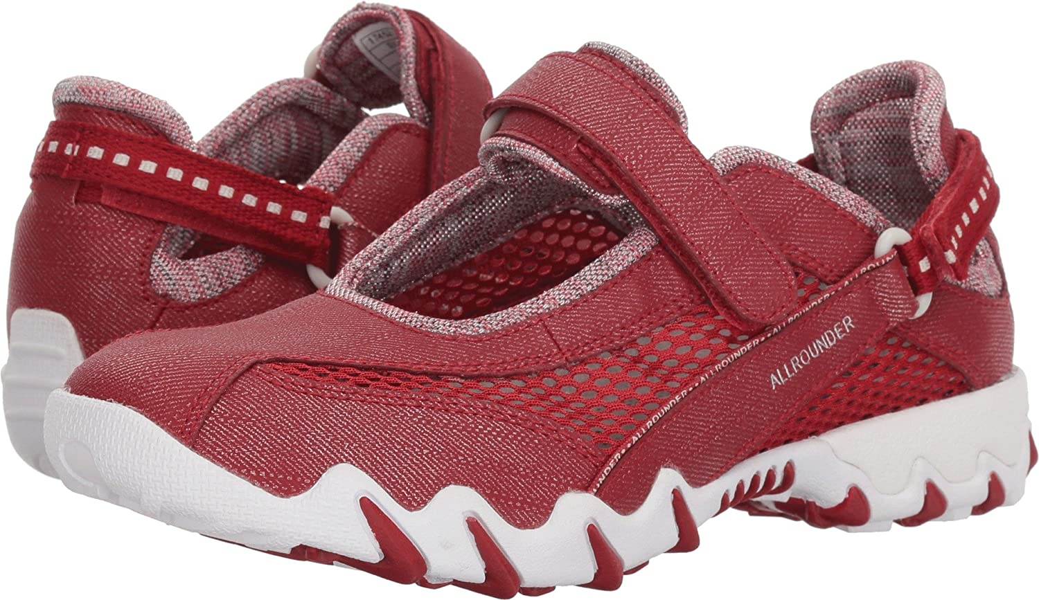 Allrounder by Mephisto Womens NIRO B075HZV16X 37.5 M EU|Rosso Jeanstyle/Cool Grey Open Mesh