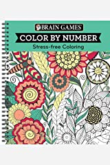 Color by Number Green (Brain Games - Color by Number) Spiral-bound