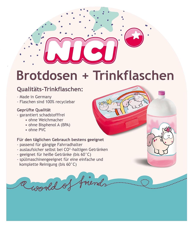 Nici Set Brotdose Trinkflasche Schule Kindergarten Waschbär