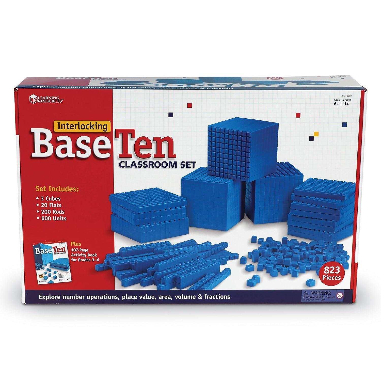 Learning Resources Base Ten Interlocking Plastic Rods Class Set