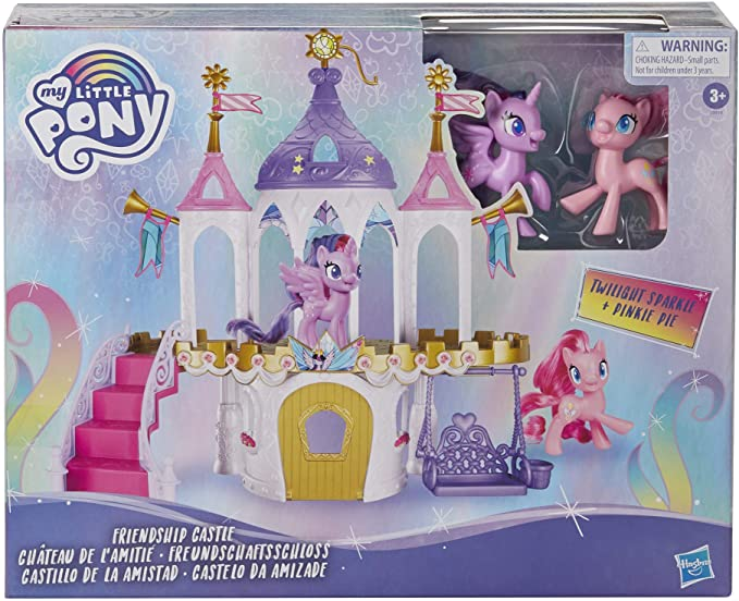 Exclusive My Little Pony Friendship Castle Playset Including Twilight Sparkle and Pinkie Pie Pony Figures