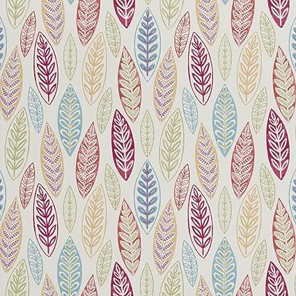Amazon Com B0510b Multi Colored Large Leaves Print Upholstery