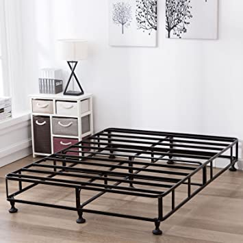 Mecor 8 Inch High Smart Box Spring Metal Bed Frame Mattress Foundation Strong Structure