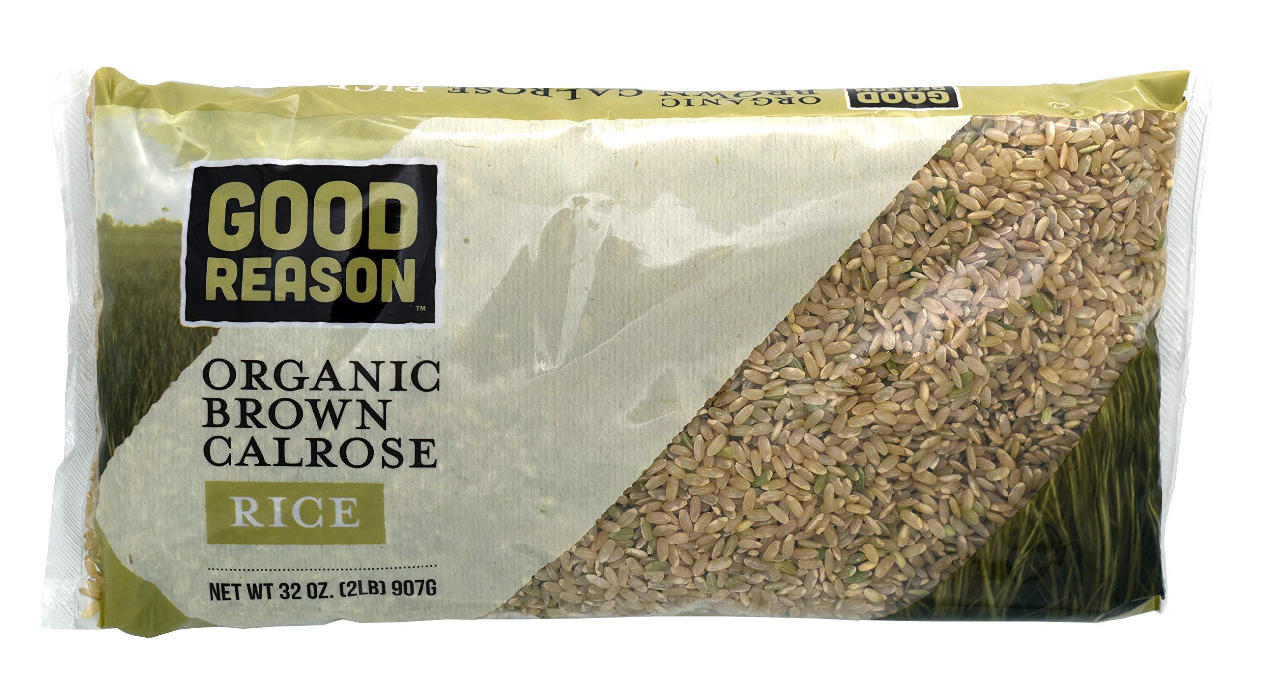 Good Reason Rice Organic Brown Calrose Rice, 2 Lb