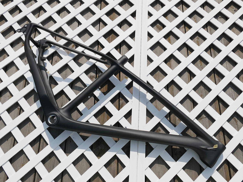 27.5er UDマットカーボンファイバーマウンテンバイクフレーム自転車フレーム-カーボン650B MTBフレーム43.18cm BSA用   B07NTWN84J