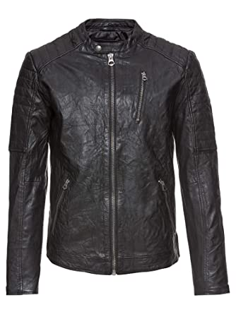 Jack jones Vintage jjvrichard Lamb Leather Jacket Noos ...