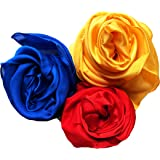 Melodie Naturals Play Silks for Creative Montessori and Waldorf Education Primary Colors (Red, Yellow, Blue)
