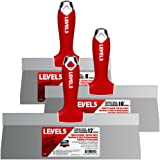LEVEL5 Stainless Steel Taping Knife 3-Pack w/Soft Grip Handles   5-619