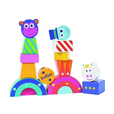 Boikido Wooden Circus Train: Toys & Games