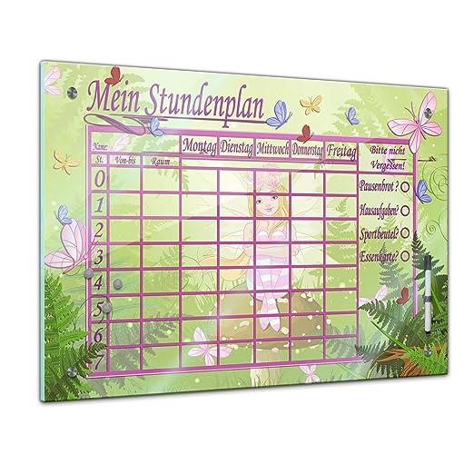 Memoboard 80 X 60 Cm Stundenplan Elfen Und Schmetterlinge