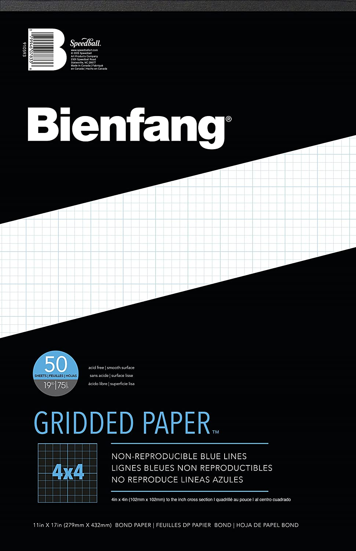 Bienfang 4X4 CrossGrid Paper Pad 11X17 SPEEDBALL ART PRODUCTS 910593