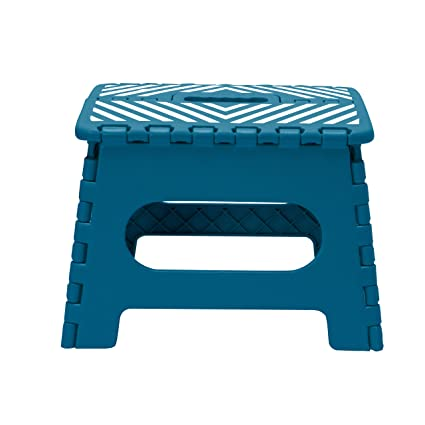 Stupendous Simplify 9 Stripe Top Folding Step Stool Hold Up To 200Lb Caraccident5 Cool Chair Designs And Ideas Caraccident5Info