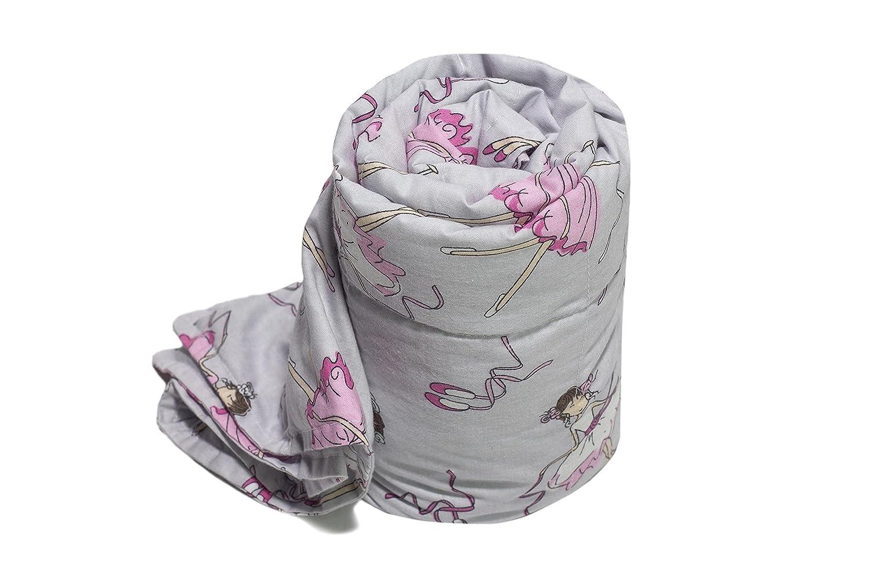 TherapieDecke - Ballerina Gewichtsdecke - Schwere Decke für Kinder Jugendliche mit Schlafproblemen und Funktionsstörungen, Größe  110x170 cm, 3 kg