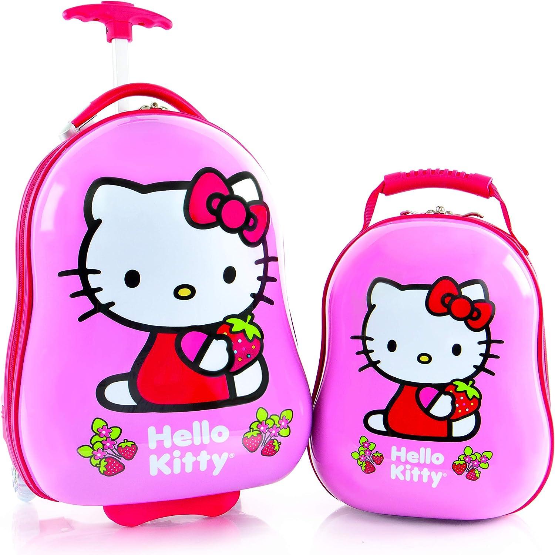 18 Carry On Luggage /& 12 Backpack Heys America Hello Kitty Kids 2 Pc Luggage Set