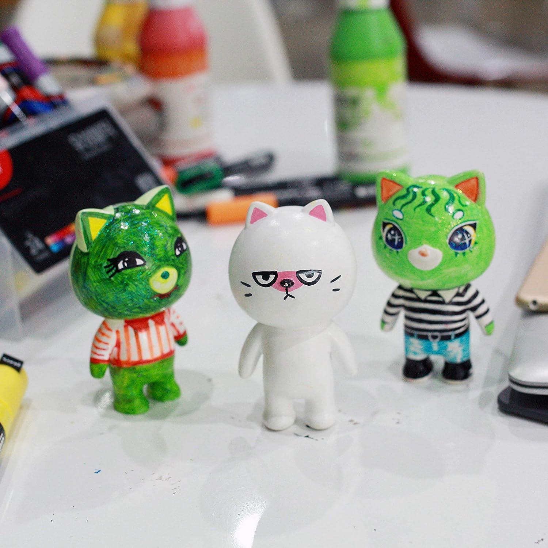 ToySVILL - Figuras para pintar para niños y adultos, respetuoso con el medio ambiente y no tóxico, kit de manualidades de ingredientes naturales, juguete para pintar y dibujar: Amazon.es: Juguetes y juegos