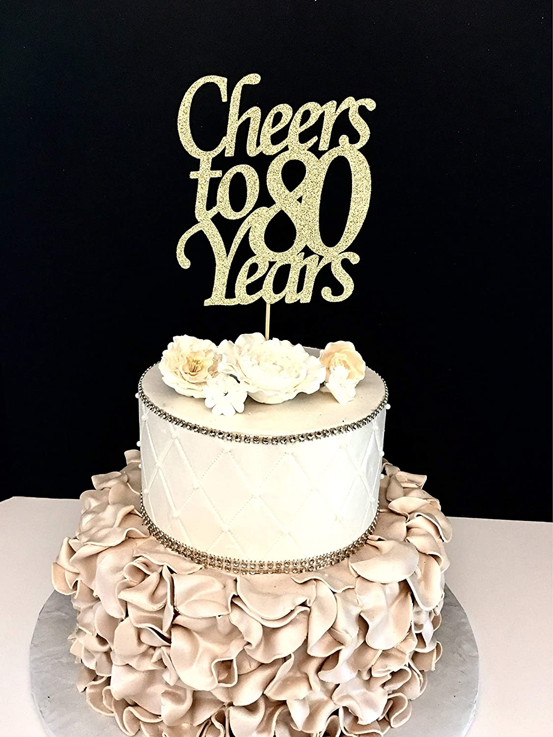 Fabulous Wedding Decoration Cake Topper Cheers To 80 Years Cheer 80Th Personalised Birthday Cards Beptaeletsinfo