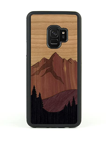 competitive price 37e7d 2986e Carved | Samsung Galaxy S9 | Luxury Protective Traveler Case | Unique Real  Wooden Phone Cover | Rubber Bumper | Mount Bierstadt Inlay