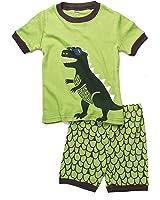 (ディゾン)dizoon [春 夏 シリーズ]キッズ 子供 男の人 服 パジャマ 綿100% 半袖 Tシャツ 半ズボン 恐竜 1-9歳