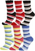 Gilbin Fuzzy Anti-slip Grip Slippers, Soft and Warm - 6-pack,