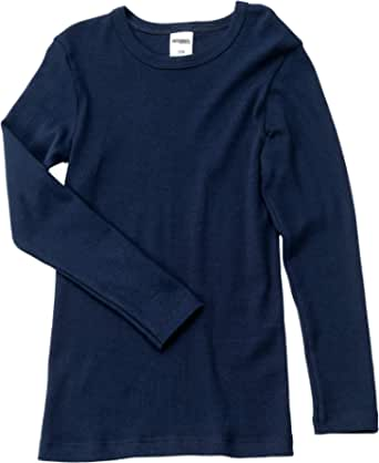 HERMKO 2830 Kit de 3 Camisetas Interiores Manga Larga para Chicos y Chicas, 100% algodón orgánico