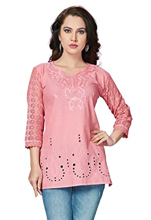 ffa1ec3fe79 ishin Rayon Pink Embroidered Party Wear Casual Daily Wear Festive Wear New  Collection Latest Design Trendy