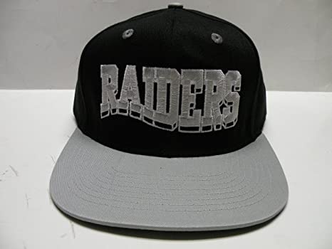 1557f1b53 Image Unavailable. Image not available for. Color  NFL Raiders Wave Black  Gray 2 Tone Retro Snapback Cap Oakland