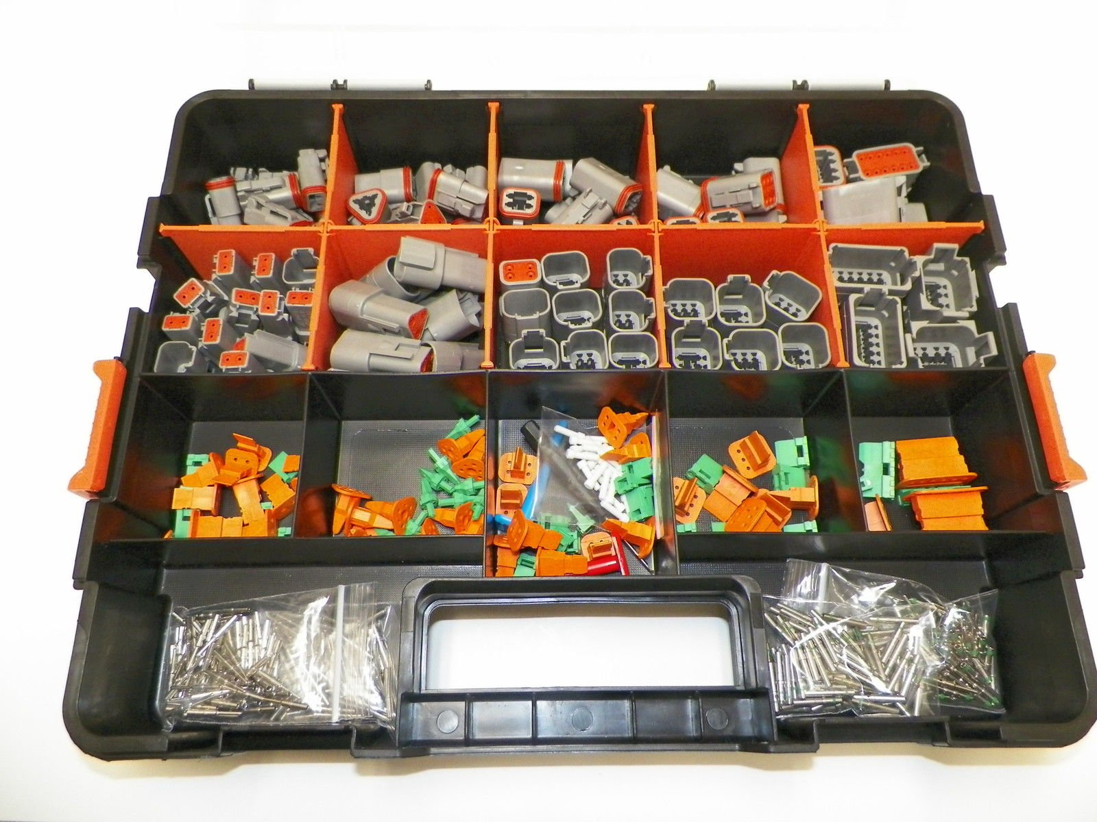 DEUTSCH DT CONNECTOR KIT GRAY OEM 504 Piece Kit SOLID TERMINALS + REMOVAL TOOLS, MALE & FEMALE