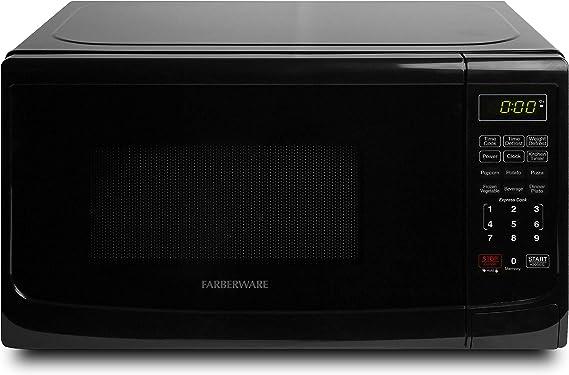 Farberware Classic FMO07ABTBKA 0.7 Cu. Ft. 700-Watt Microwave Oven with LED Lighting