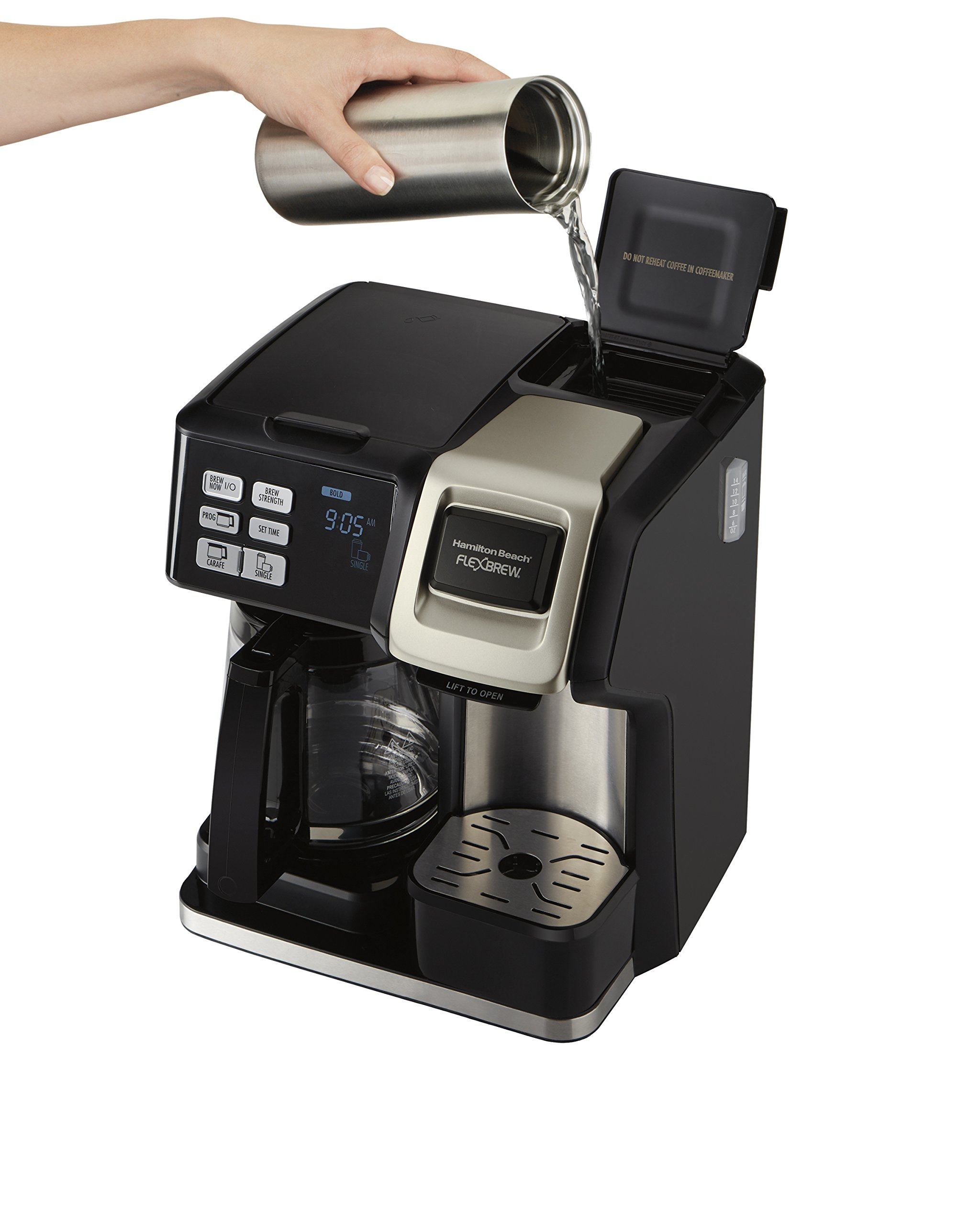 Hamilton Beach 49950C Flexbrew 2-Way Brewer Programmable Coffee Maker, Black by Hamilton Beach (Image #8)