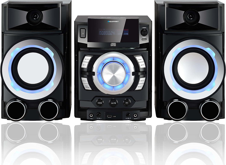 Blaupunkt MC80BT Hogar sistema de Karaoke 100 W, Giratorio, CD,CD-R,CD-RW, VFD, Corriente alterna, 100-240