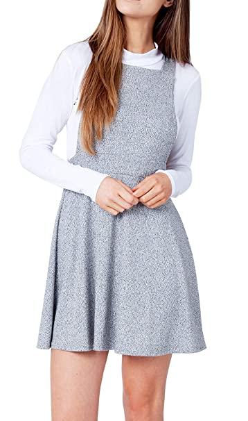 Re Tech UK Peto de Falda para Mujer - Punto canalé: Amazon.es ...