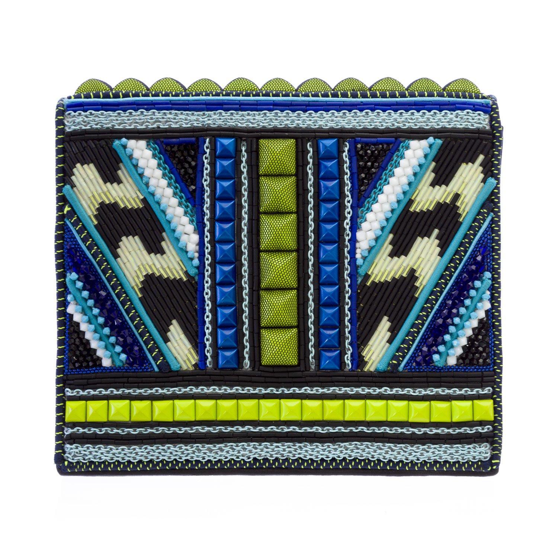 Bea Valdes Women's Studded & Beaded Weevil Clutch Bag Multi-Color