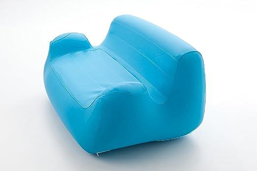 Sofá inflable calidad + funda textil azul turquesa de alta ...