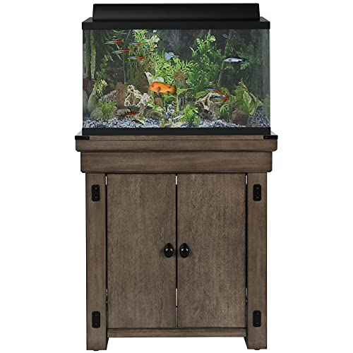 Ameriwood Home Wildwood Aquarium Stand, 20 gallon, Rustic Gray