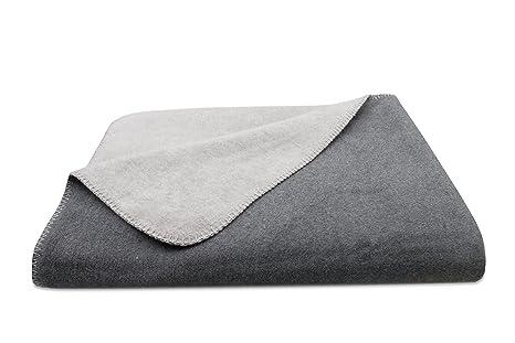 ZOLLNER Kuscheldecke Wolldecke, grau-hellgrau (weitere verfügbar), Größe ca. 150x200 cm