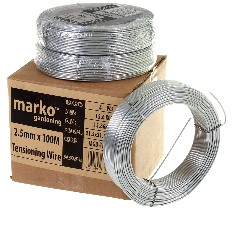 Marko Galvanised Wire Heavy Duty 100 Meters X 2.5MM Garden Fencing Fence Tension Steel (7)