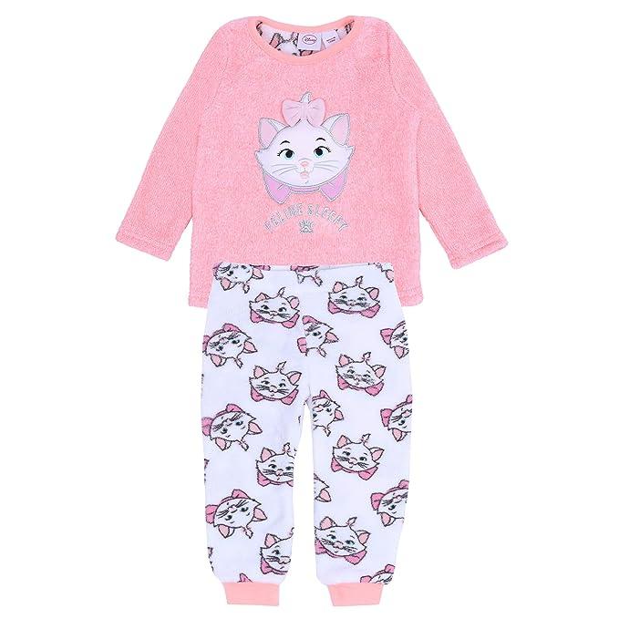 b9335d833 Orange Neon Top   White Bottoms Pyjama Set for Girls Marie The Cat ...
