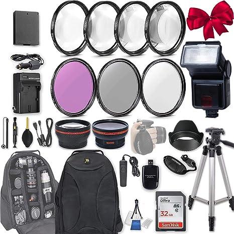 58 mm 28 pc Kit de accesorios para Canon EOS Rebel T6, T5, T3 ...