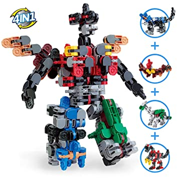 Amazon Com Transformer Toys Dinosaur 3d Puzzle Robot Kit Car