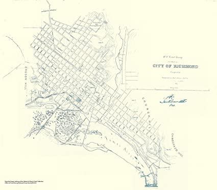 Amazon Com Historic Map City Of Richmond Va 1858 Civil War Map