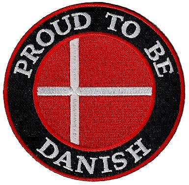 Amazon.com: Proud a ser Danés bordado Parche Dinamarca ...