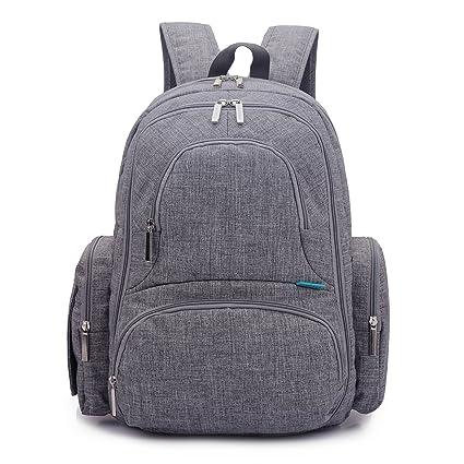 Mochila CoolBELL para guardar pañales de bebé, con bolsillos independientes/Bolso de gran tamaño