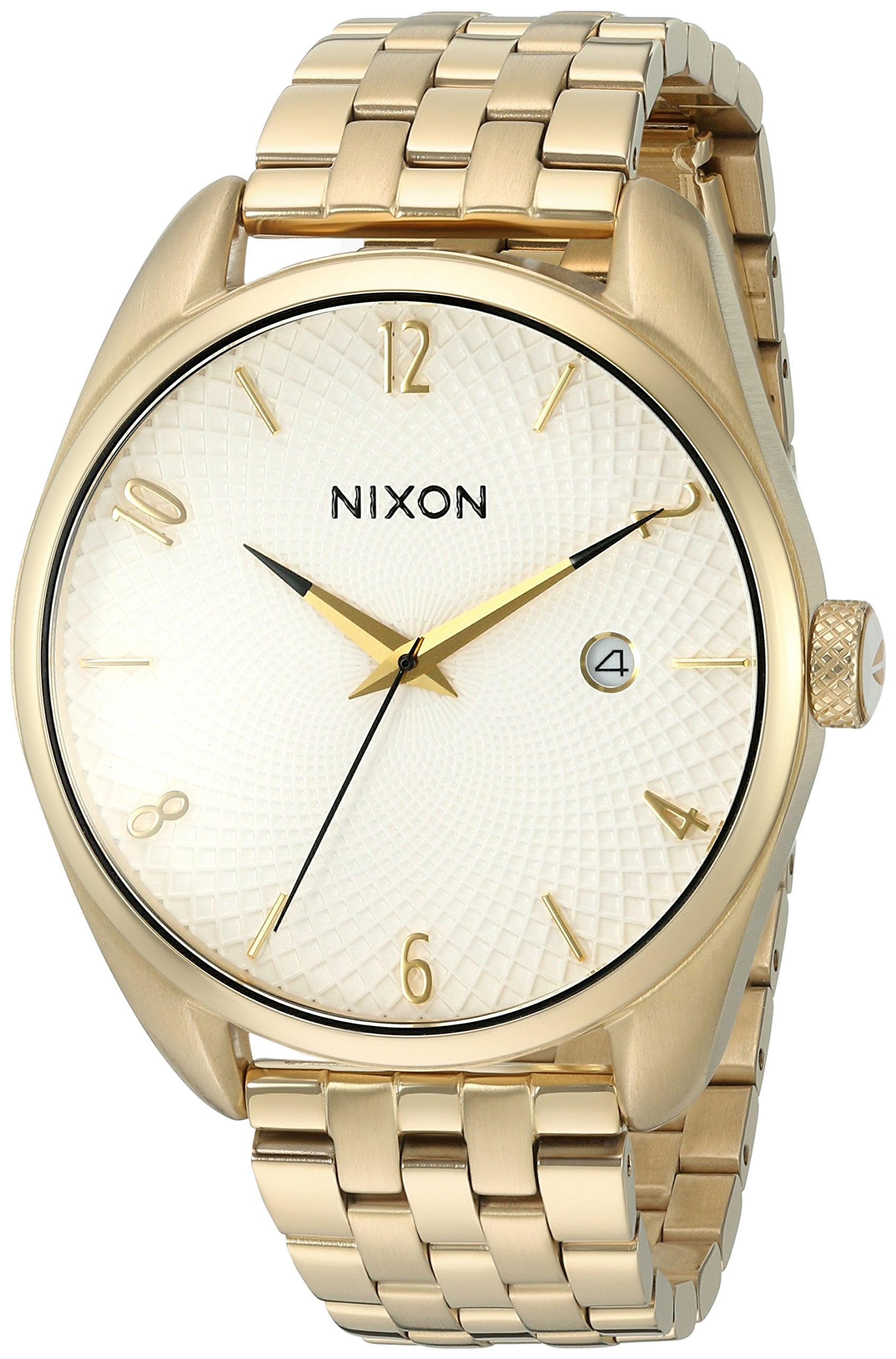 Nixon Women's 'Bullet, White' Quartz Stainless Steel Watch, Color:Gold-Toned (Model: A418-508-00)