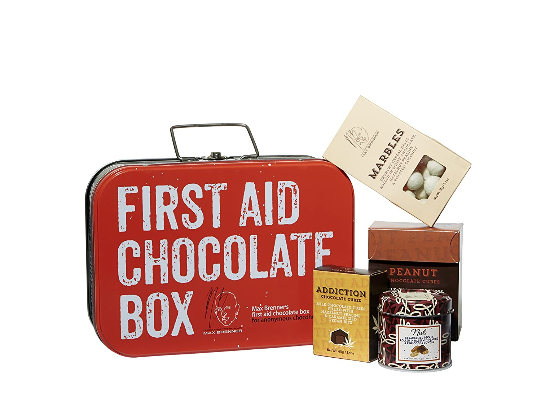 Amazon.com : Max Brenner Chocolates- First Aid Chocolate Gift Box ...