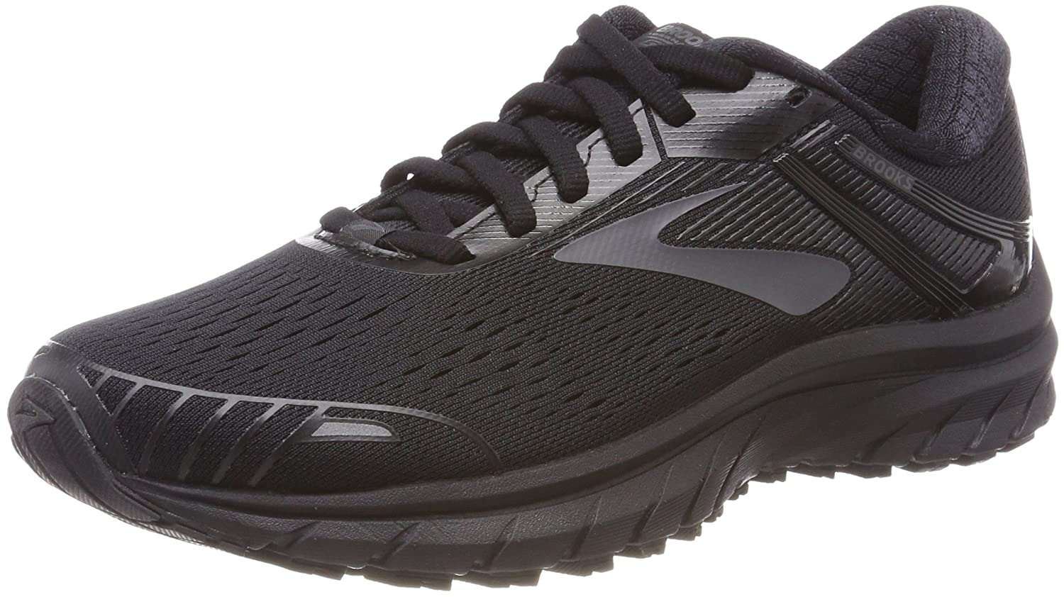 Brooks Womens Adrenaline GTS 18 B0716PYSV1 12 B(M) US|Black/Black